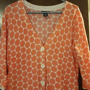 N.Y. and Co orange polka dot cardigan